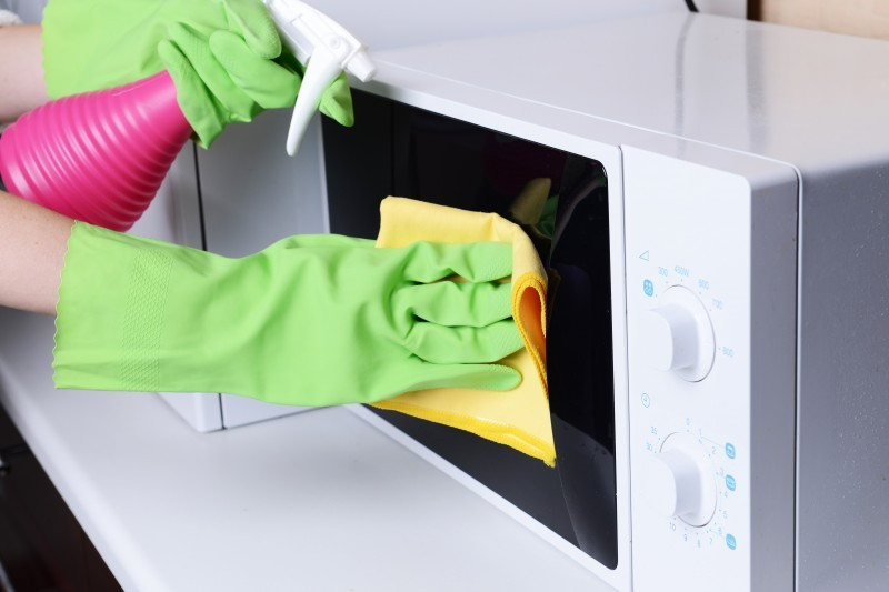 How To Clean The Microwave Oven All Area Appliance